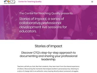 CTQ's Stories of Impact Online Workshop